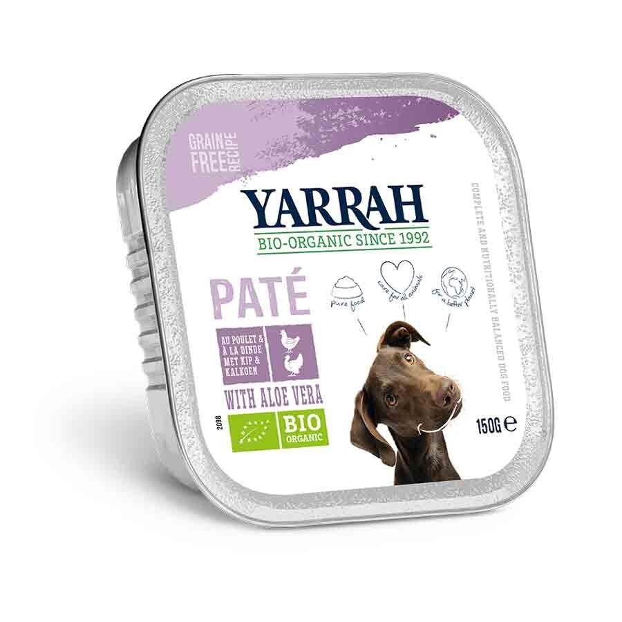 Yarrah Bio Pâté de dinde à l'aloe vera pour chien 12 x 150 grs