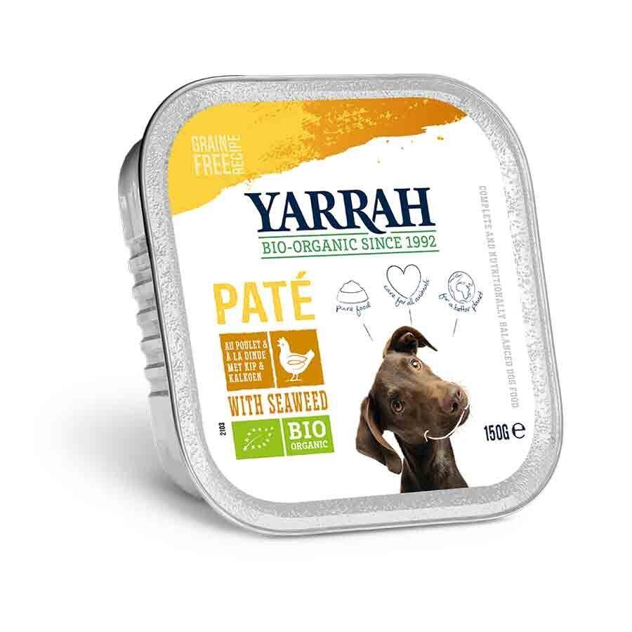 Yarrah Bio Pâté de poulet et aux algues marines pour chien 12 x 150 grs