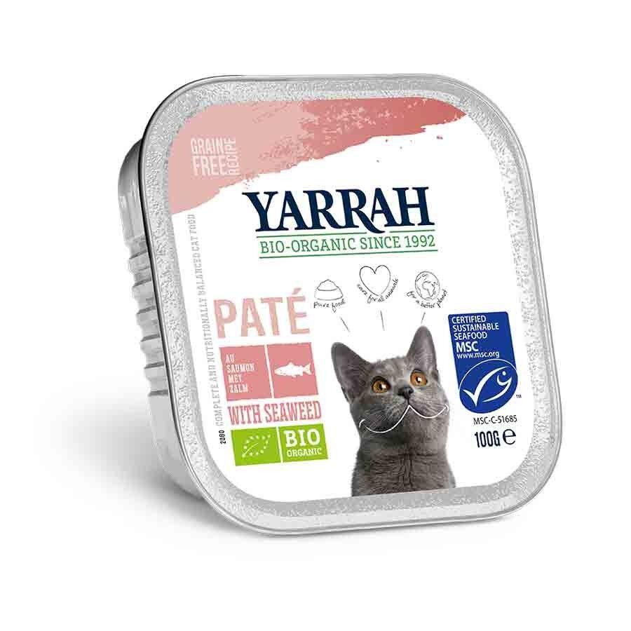 Yarrah Bio Pâté de saumon aux algues marine pour chat 16 x 100 grs