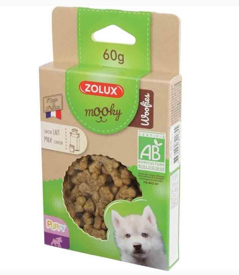 Mooky Zolux Mooky Friandises Woofies Bio Puppy au lait pour chiot 60 g