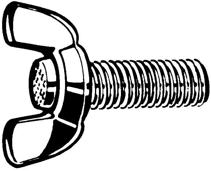 Fabory Vis à oreilles type (américain) léger Acier inoxydable (Inox) A2 M10X35