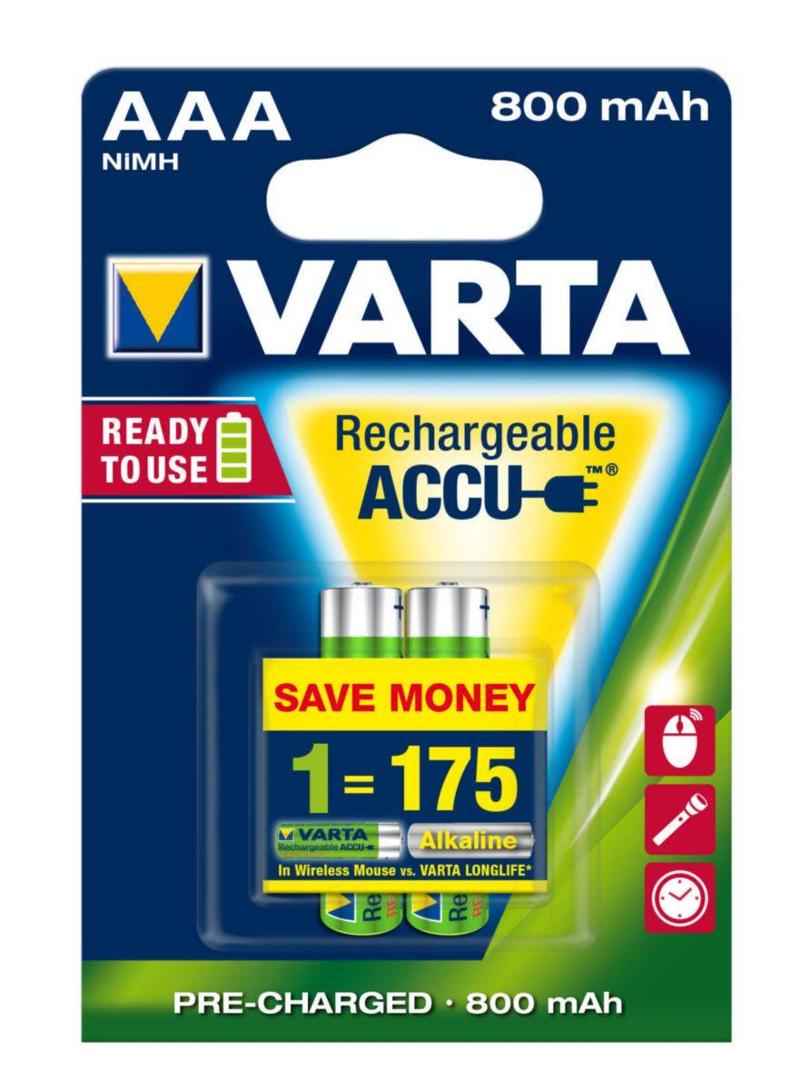 Varta Batteries 56703101402 A2PC 800MAH AAA