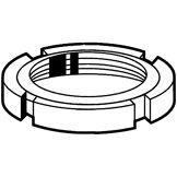Fabory Écrou cylindrique à encoches MF DIN 1804 W Acier Brut  5  M72X1,50