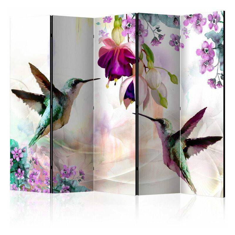 ARTGEIST Paravent 5 volets - Hummingbirds and Flowers II [Room Dividers] 225x172