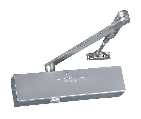 GROOM Ferme-porte GR300 Force 2 à 6, avec bras compas - Coloris:argent