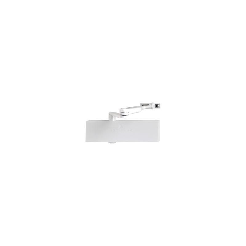 Heracles - Ferme-porte HR200 avec bras à compas - Blanc