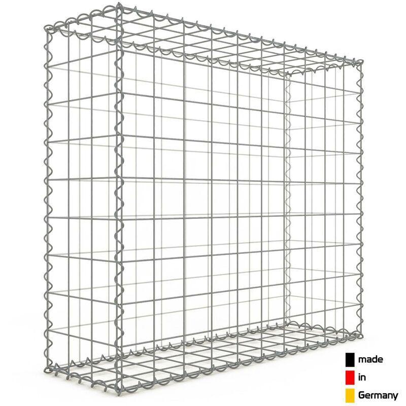 Gabiondeco - Gabion 100x90x30cm - mailles carrées 10x10cm