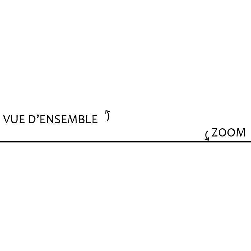 99DÉCO Noire   Lot de 25 Plinthes PVC Noires - L200xH8cm