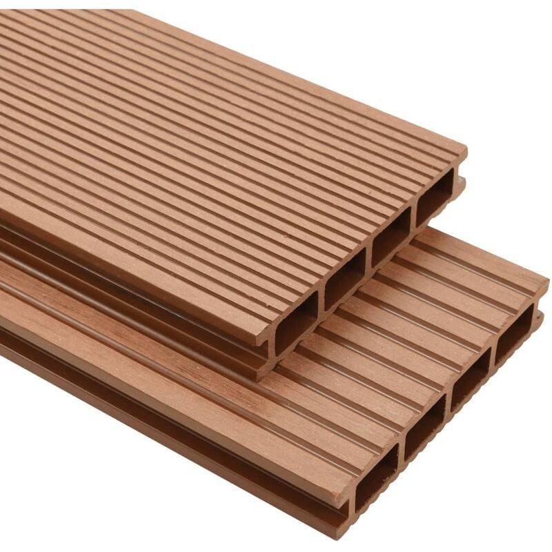 YOUTHUP Panneaux de terrasse avec accessoires WPC 30 m2 2,2 m Marron - YOUTHUP