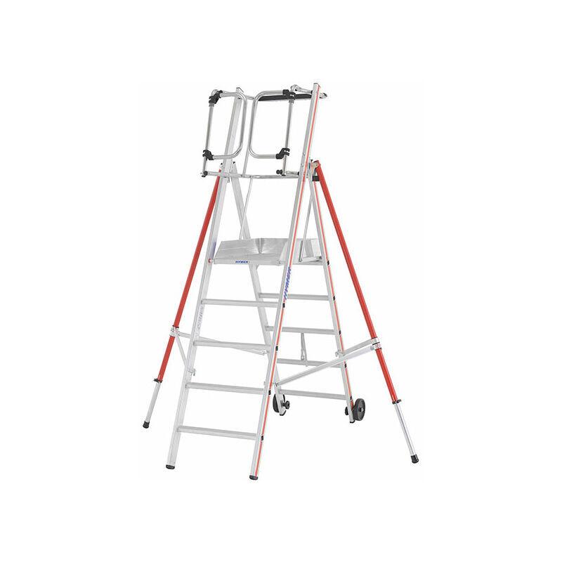 ESCABEAU PIRL - MATISERE Escabeau Pirl-matisere - F. Escabeau pro 8 marches de 3.86m de hauteur
