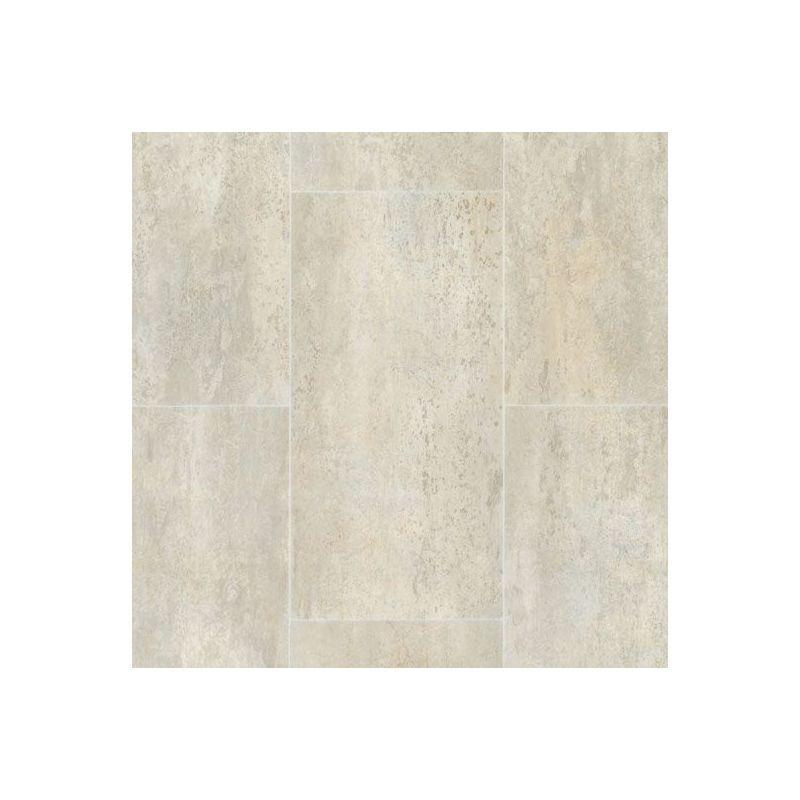 TARKETT Sol PVC Premium Envers Textile - Carrelage effet Calcaire - Grège - 3 x