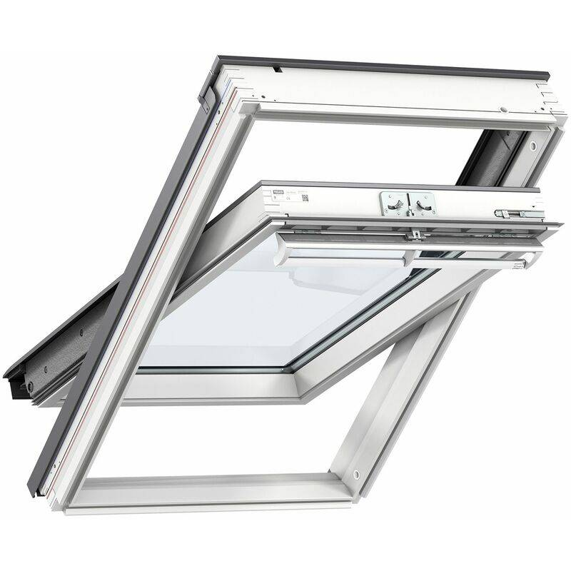 VELUX fenêtre de toit GGL UK04 2057 (134x98cm) bois, avec vitrage 57FR