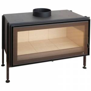TERMOFOC Insert à bois noir modèle C-1000 + Kit de ventilation + Régulateur de - Publicité
