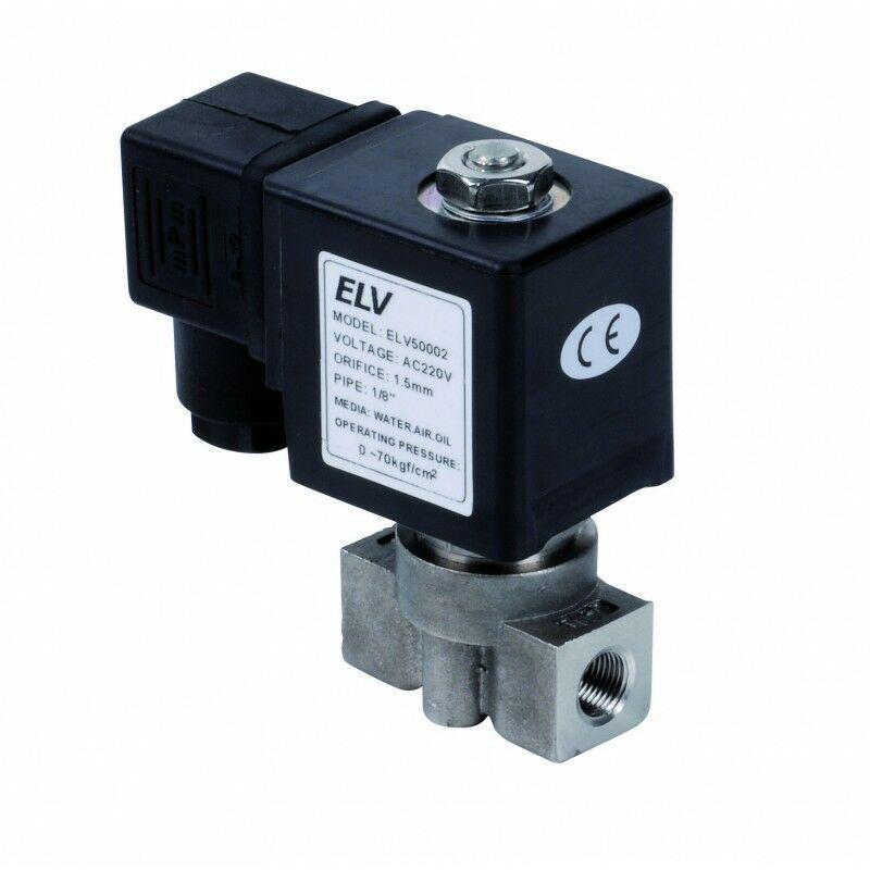 ELV Electrovanne haute pression inox 1/8' NF - ELV