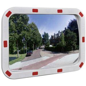 YOUTHUP Miroir de trafic convexe rectangulaire 40x60cm avec réflecteurs - Publicité