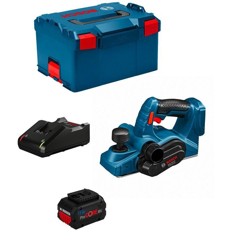 BOSCH Rabot BOSCH GHO 18 V-LI (1 x 8,0 Ah GAL18V-40 L-Boxx 238)