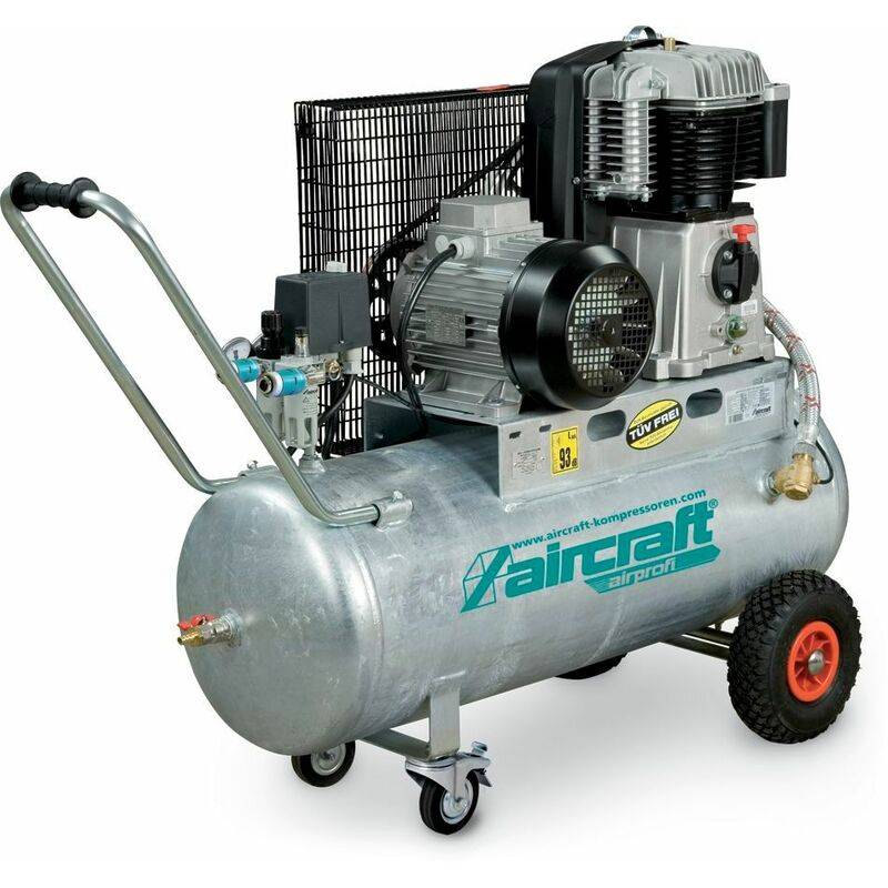 AIRCRAFT Compresseur à courroie huile cuve galvaniée 10 bars - 100 l AIRPROFI