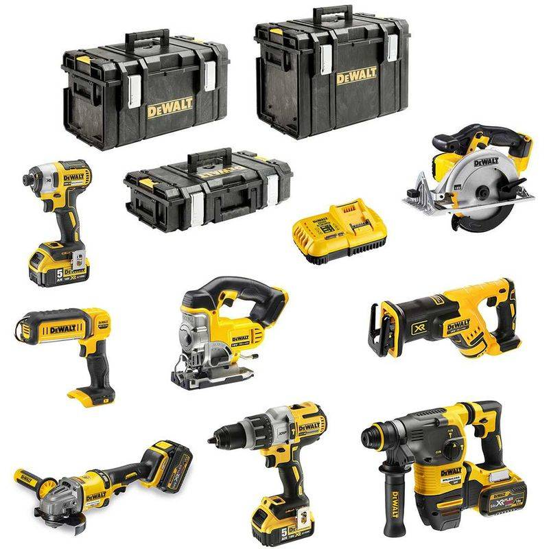 DeWALT Kit DCK-FR834BMP4DSB (DCD996 DCG414 DCH333 DCS367 DCS391 DCS331