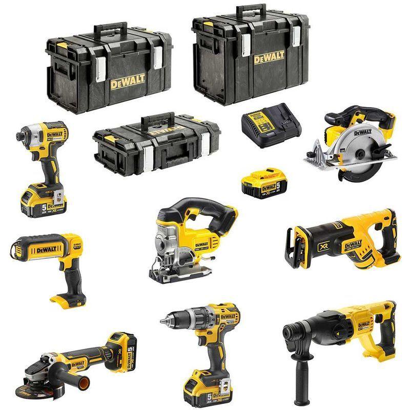 DeWALT Kit DCKXP8BMP4DS-33 (DCD796 DCG405 DCL050 DCS331 DCS391 DCS367
