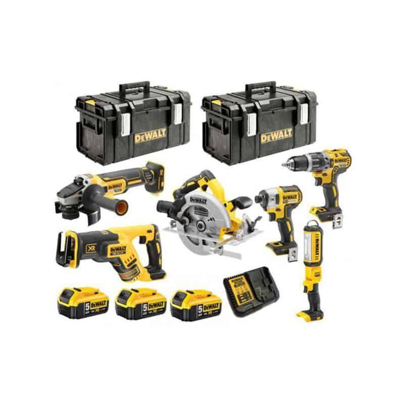 DEWALT Pack 6 outils 18V Li-Ion (3x5Ah) - DCK623P3