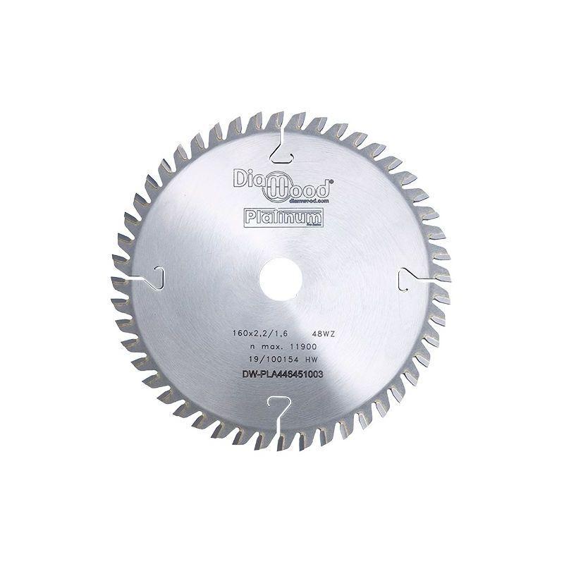 Diamwood Platinum - Lame de scie circulaire HM finition D. 160 x Al. 20