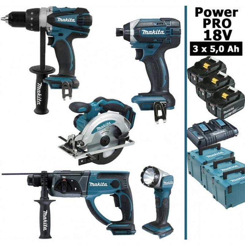 MAKITA Pack Makita Power PRO 18V: Perceuse 91Nm DDF458 + Scie circulaire 165mm