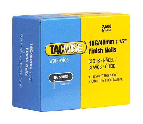 TACWISE Boîte de 2500 clous de finition de type 16G L. 40 mm - TA-0319