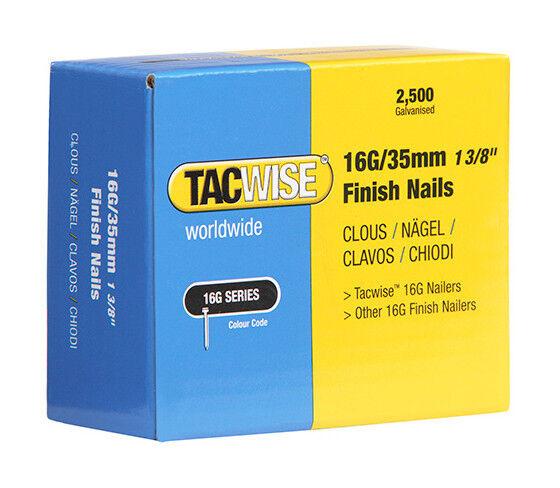 TACWISE Boîte de 2500 clous de finition de type 16G L. 35 mm - TA-0295