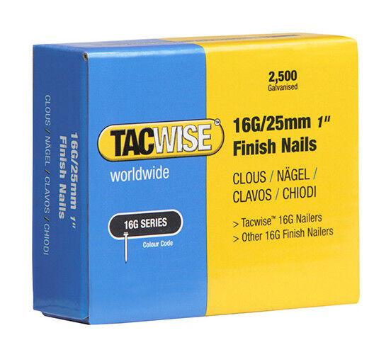 TACWISE Boîte de 2500 clous de finition de type 16G L. 25 mm - TA-0666