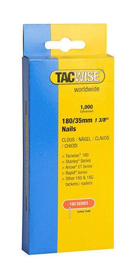 TACWISE Boîte de 1000 clous en acier galvanisé en bande de type 180 L. 35 mm