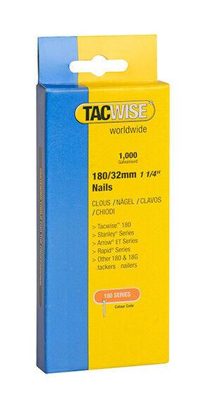 TACWISE Boîte de 1000 clous en acier galvanisé en bande de type 180 L. 32 mm