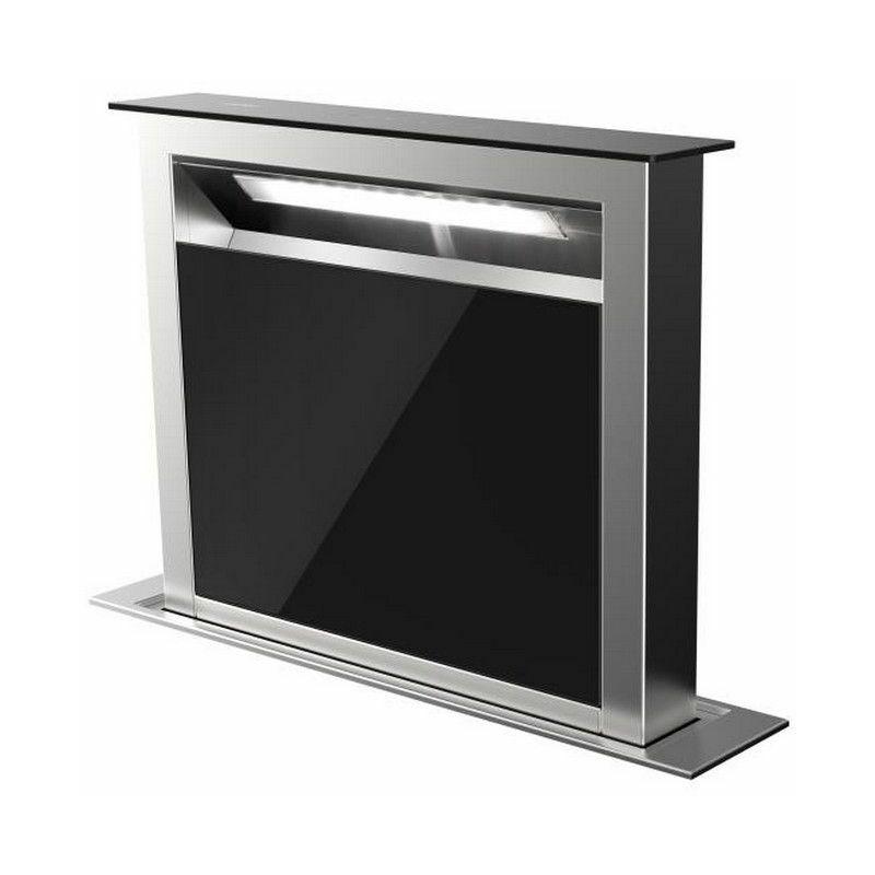 AIRLUX hotte plan de travail 60cm 630m³/h inox/noir - ahv659bk - Airlux