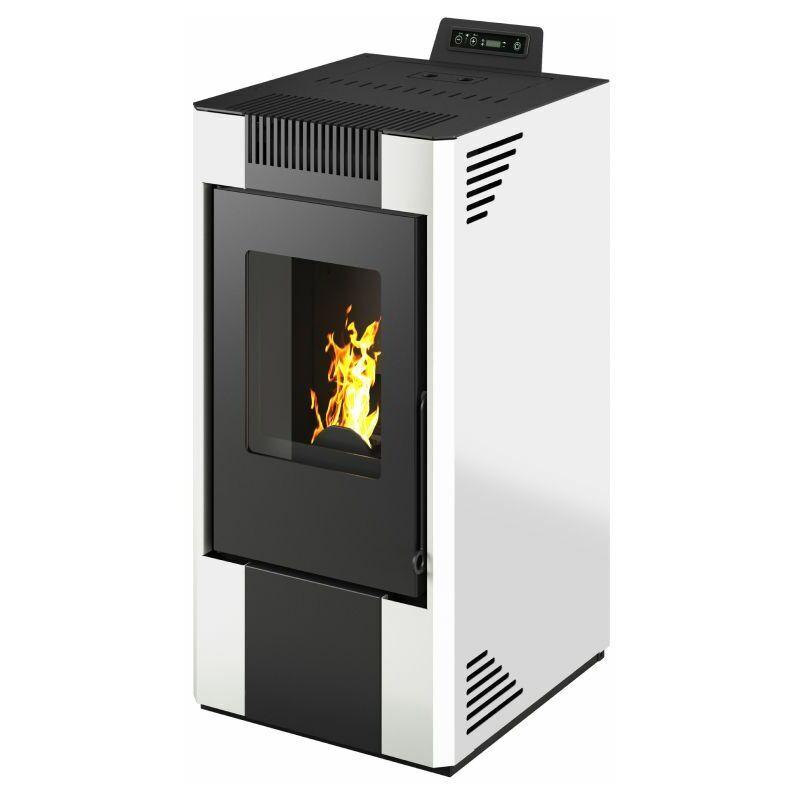 Sannover Thermique - Poêle à granulés air Astral 11kW Blanc Sannover