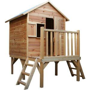 SOULET Cabane en bois pour enfant sur pilotis 2 échelles - Iloa - SOULET - Publicité