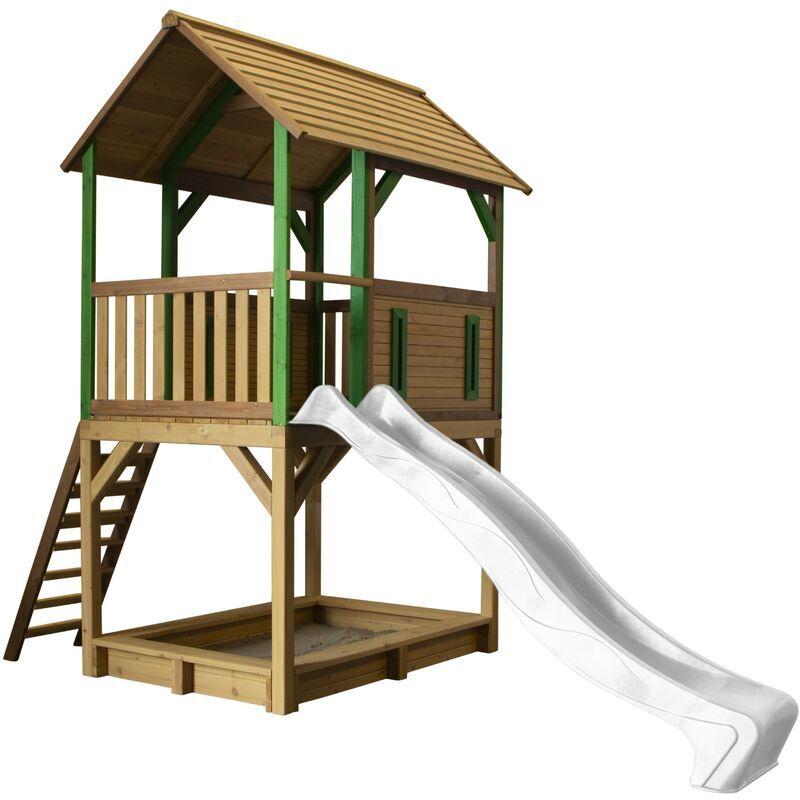 AXI Pumba Maison Enfant avec Bac à Sable & Toboggan bris   Aire de Jeux