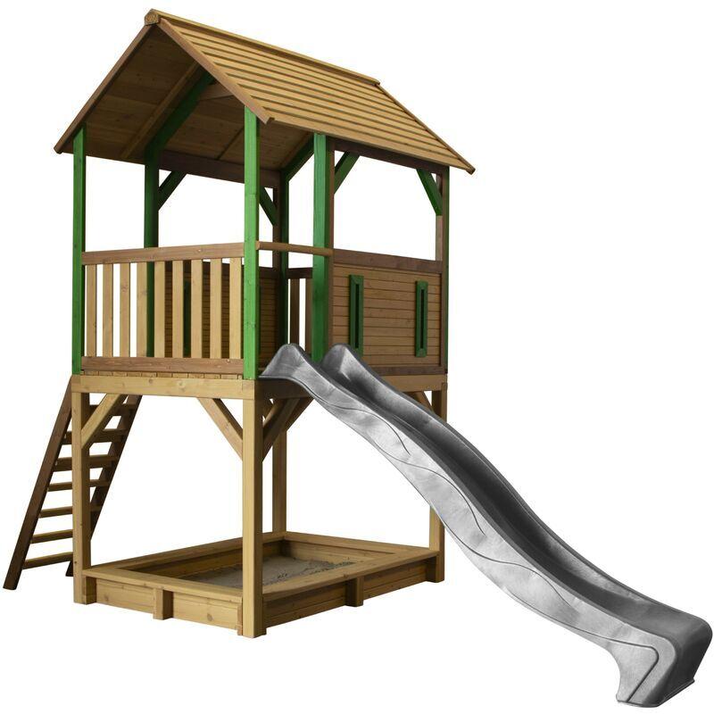 AXI Pumba Maison Enfant avec Bac à Sable & Toboggan gris   Aire de Jeux