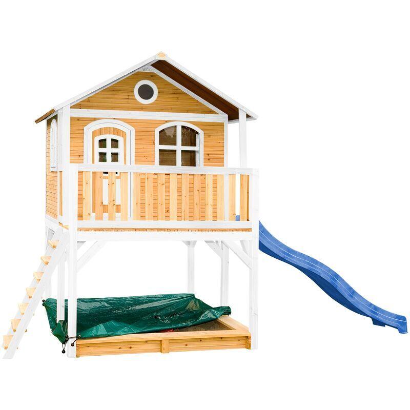 AXI Marc Maison Enfant avec Bac à Sable & Toboggan bleu   Aire de Jeux