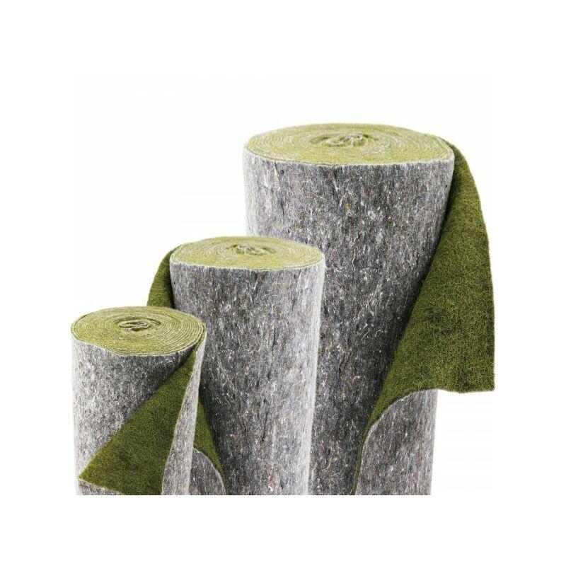 AQUAGART 28 m x 1 m natte pour bordure de bassin, verte, natte anti-érosion pour