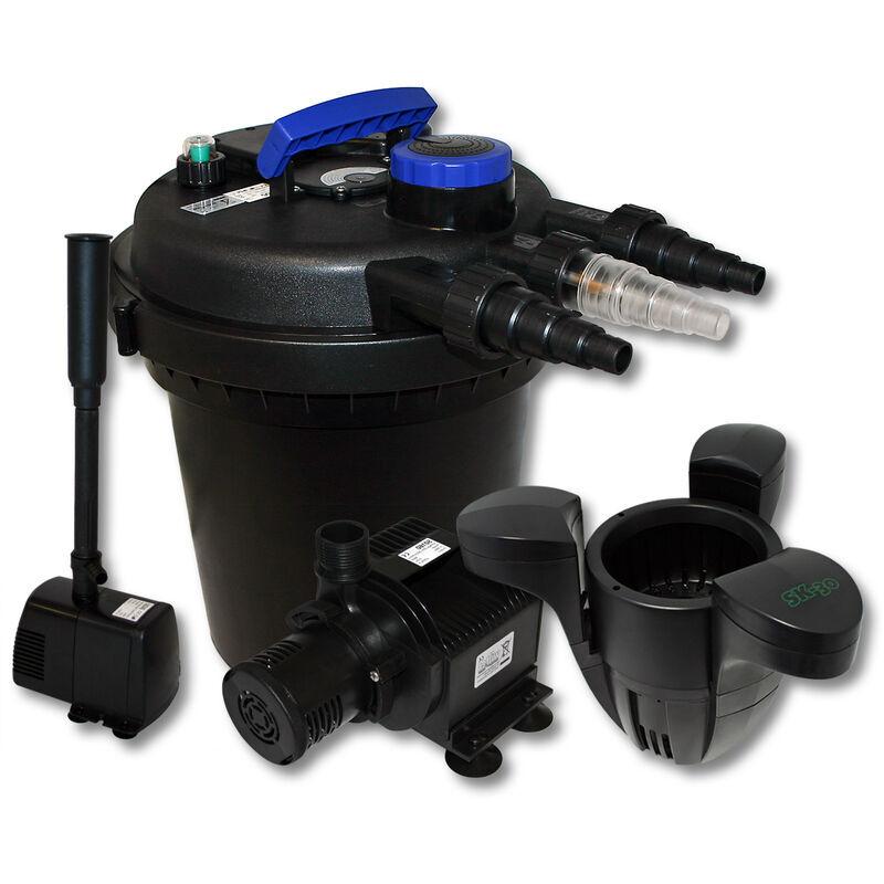 WILTEC Kit de filtration à pression bio 6000l Stérilisateur Pompe de bassin