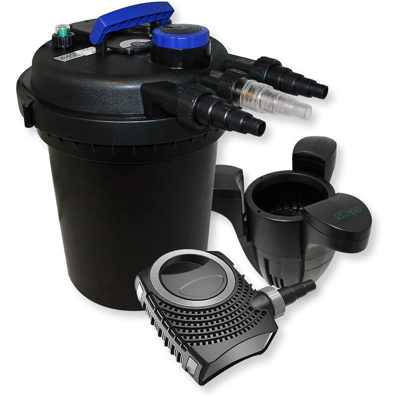 WILTEC Kit de Filtration Bassin à pression 6000l Stérilisateur UVC 11W 70W