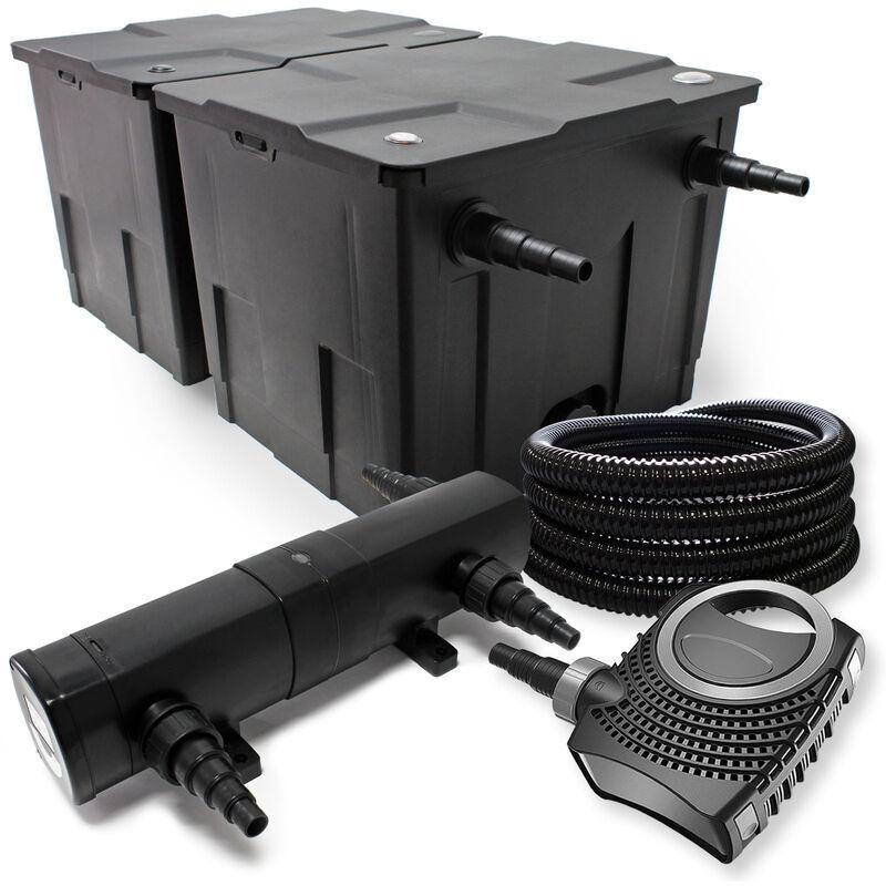 Wiltec - Pond Kit de filtration avec 60000l, 24W UV Stérilisateur,
