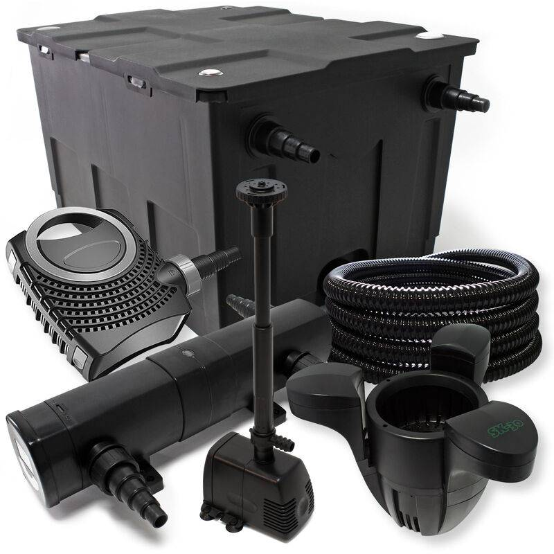 Wiltec - Kit de filtration avec Bio Filtre 60000l, Pompe éco, 36W UV