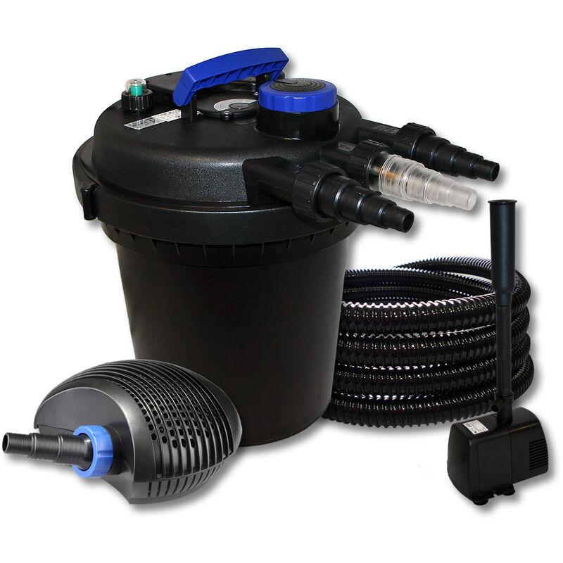 WILTEC SunSun Kit de filtration de bassin à pression 6000l avec 11W UVC et 40W