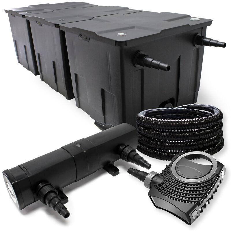 Wiltec - Kit de Filtration avec Bio Filtre 90000l, UVC St?rilisateur
