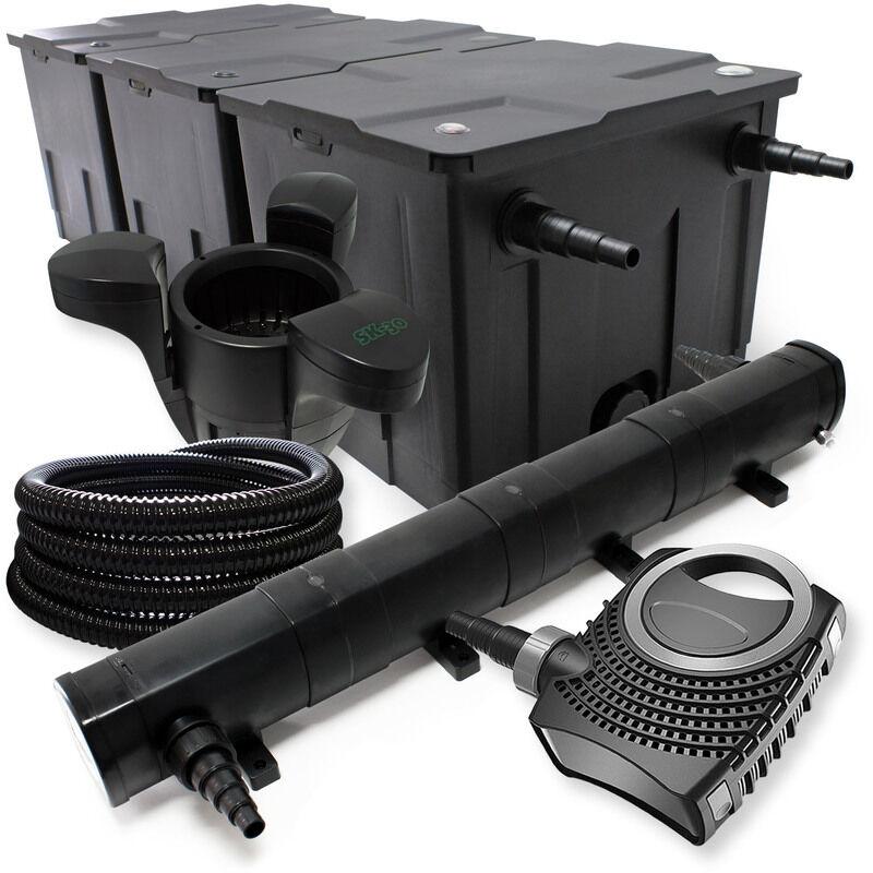 Wiltec - Kit de Filtration avec Bio Filtre 90000l, UVC Stérilisateur