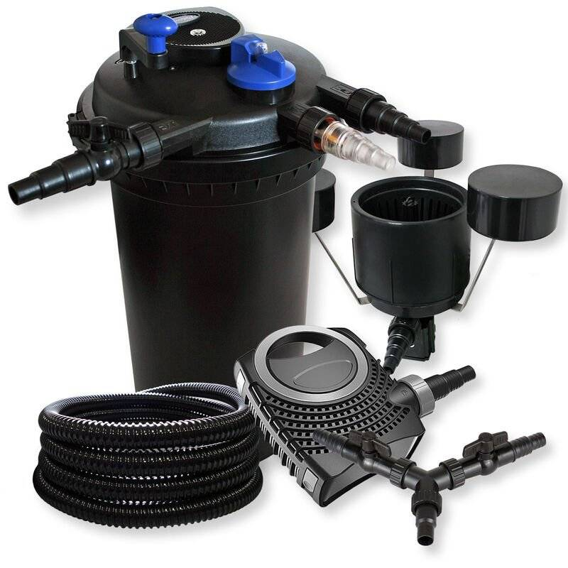 Wiltec - SunSun Kit filtration bassin à pression 30000l 18W UVC