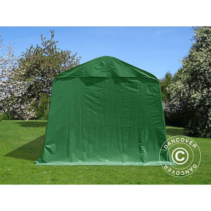 DANCOVER Tente Abri Voiture Garage PRO 3,77x9,7x3,18m PVC, Vert - DANCOVER