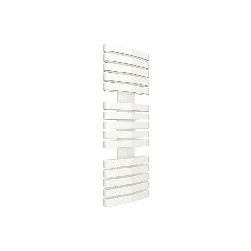 SÈCHE SERVIETTE RADIATEUR - MATISERE A. Sèche-serviette chauffage central blanc de 730mm de haut et 400mm de