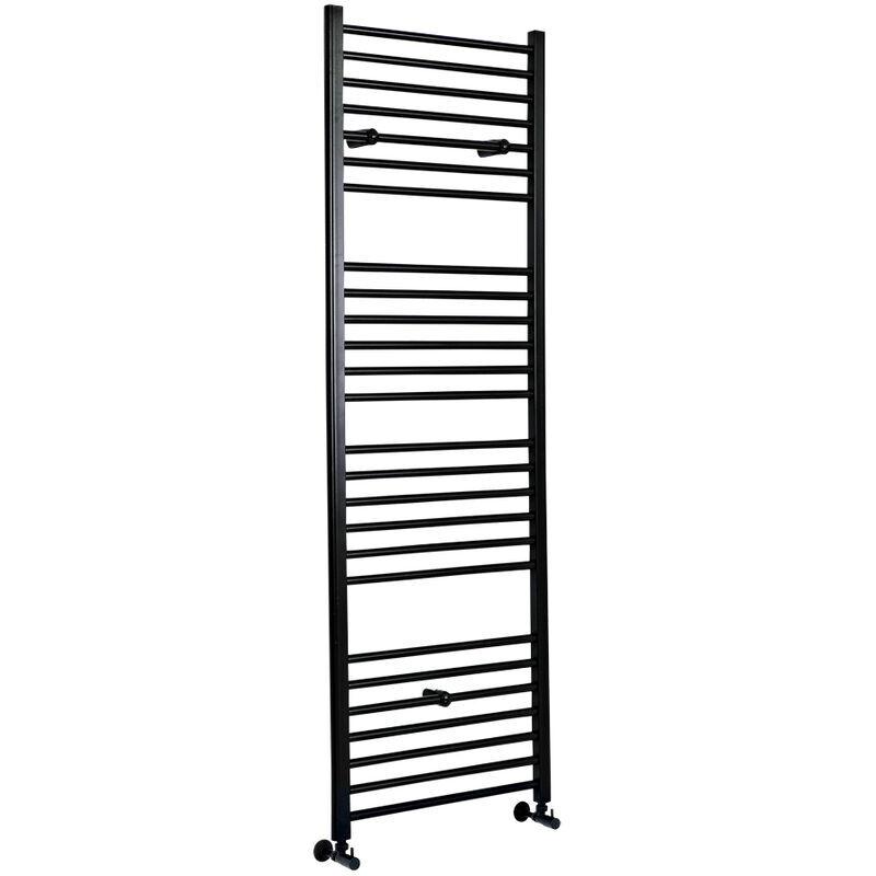 HUDSON REED Nox - Sèche-Serviettes Design Moderne Plat - Noir - 180 cm x 50 cm