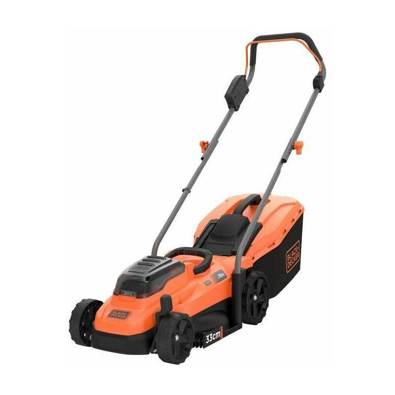 BLACK + DECKER Tondeuse 33 cm sans fil LITHIUM 18V - 2,5Ah - 2
